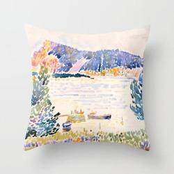 Couch Throw Pillow | Henri-edmond Cross