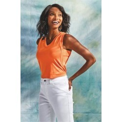 Women On Holiday Tank Top by Soft Surroundings, in Soft Orange size 1X (18-20)