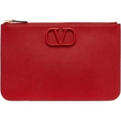 Red Vlogo Pouch - Red - Valentino Garavani Clutches found on Bargain Bro from lyst.com for USD $642.20