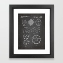 Framed Art Print | Soccer Ball Patent - Football Art - Black Chalkboard by Patent Press - Vector Black - X-Small-10x12 - Society6 found on Bargain Bro India from Society6 for $34.39