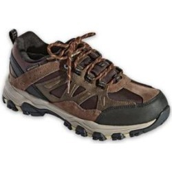 Men's Skechers Selmen Enago Leather Shoes, Chocolate Brown 8.5 M Medium found on Bargain Bro from Blair.com for USD $56.99