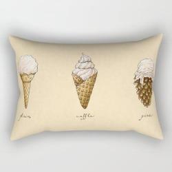 Rectangular Pillow | Ice Cream Cones by Mariya Olshevska - Small (17
