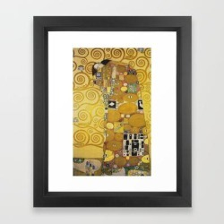 Framed Art Print | The Embrace - Gustav Klimt by Fineartpaintings - Vector Black - X-Small-10x12 - Society6 found on Bargain Bro from Society6 for USD $26.74