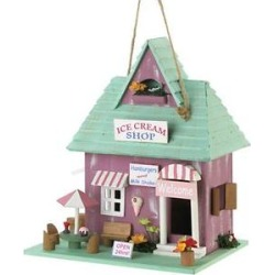 Zingz & Thingz Ice Cream Shop Bird House found on Bargain Bro from Chewy.com for USD $25.83