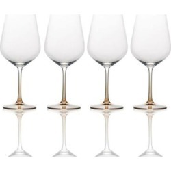 Mikasa Gianna Ombre Amber Red Wine Glass (Set of 4) found on Bargain Bro from Overstock for USD $30.38