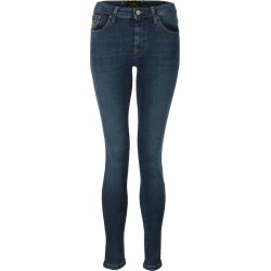 Leather Patch Super Skinny Jean