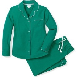 Petite Plume Women's Flannel Pajamas, Forest Green