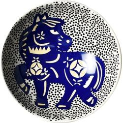 Coton Colors Chinese Zodiac Bowl Accent Bowl, Horse