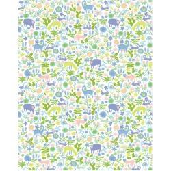 WallShoppe Menagerie Removable Wallpaper, Blush found on Bargain Bro Philippines from maisonette.com for $70.00