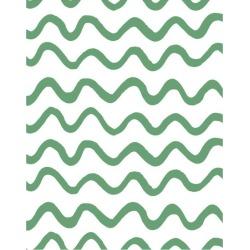 WallShoppe Aegean Waves Removable Wallpaper, Green found on Bargain Bro Philippines from maisonette.com for $70.00