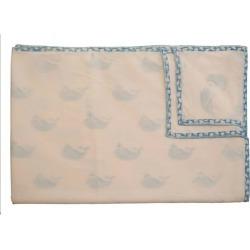 Naaya by Moonlight Blue Whale Organic Blanket