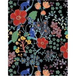WallShoppe Monkey Garden Removable Wallpaper, Black Multi found on Bargain Bro Philippines from maisonette.com for $70.00