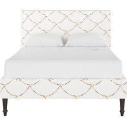 Gray Malin x Cloth & Company Straight Platform Bed, Bunting Scallop Multi found on Bargain Bro India from maisonette.com for $1295.00