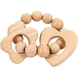 Bebe Au Lait Wooden Teether, Flower & Heart found on Bargain Bro Philippines from maisonette.com for $15.00