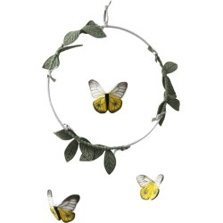 Baby Jives LUXE Butterfly Mobile in Yellow, Silver & Green