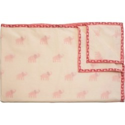 Naaya by Moonlight Pink Elephant Organic Blanket