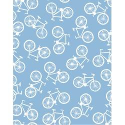 WallShoppe Bicycle Removable Wallpaper, Cornflower found on Bargain Bro Philippines from maisonette.com for $70.00