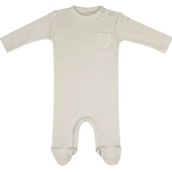 Bebe Organic Organic Bebe Feeted Onesie, Feather Grey found on Bargain Bro Philippines from maisonette.com for $30.00