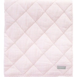 Louelle. Reversible Play Mat, Dusty Pink Gingham and White Linen