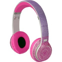 Wireless Express Stereo Bluetooth Bling Headphones, Pink