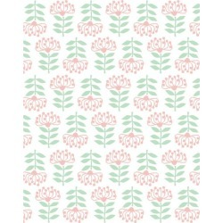 WallShoppe Stylized Papyrus Removable Wallpaper, Pink found on Bargain Bro Philippines from maisonette.com for $70.00