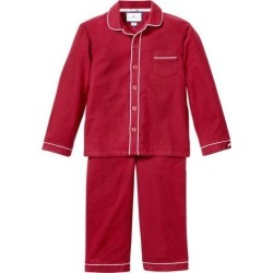 Petite Plume Burgundy Flannel Pajamas with Double Piping found on Bargain Bro India from maisonette.com for $46.50
