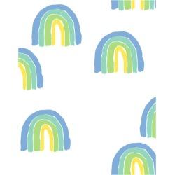 WallShoppe Rainbows Traditional Wallpaper, Green found on Bargain Bro Philippines from maisonette.com for $179.00