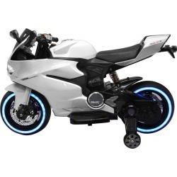 Best Ride On Cars Tron Motorcycle 12V, White