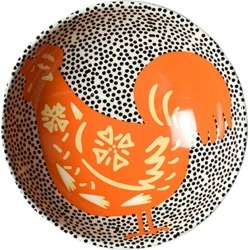 Coton Colors Chinese Zodiac Bowl Accent Bowl, Rooster