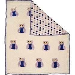 Naaya by Moonlight Purple Owl Organic Quilt