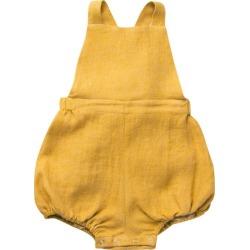Nellie Quats Linen Jump Rope Romper, Mustard