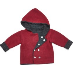Petidoux Baby Alpaca Jacket, Red
