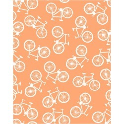 WallShoppe Bicycle Traditional Wallpaper, Creamsicle found on Bargain Bro Philippines from maisonette.com for $179.00