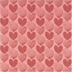 Schumacher Heart of Hearts Wallpaper, Red/Pink