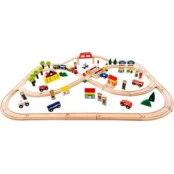 Bigjigs Toys Town + Country Train Set