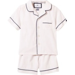 Petite Plume Classic White Short Set with Navy Piping found on Bargain Bro India from maisonette.com for $48.00