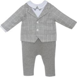 Patachou Baby Bodysuit, Grey