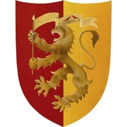 Fantashion Lion Shield, Red/Gold