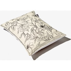 Small black and white Rosa Mundi cushion found on Bargain Bro UK from Diptyque