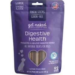 Get Naked Digestive Health Grain-Free Large Dental Stick Dog Treats, 6 count found on Bargain Bro India from Chewy.com for $5.14