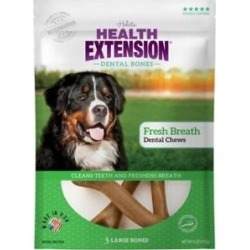 Health Extension Fresh Breath Mint Flavored Large Dental Dog Treats, 3 count