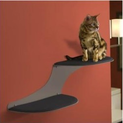 The Refined Feline Cat Clouds Wall Mounted Cat Wall Shelf, Right-Facing, Titanium found on Bargain Bro from Chewy.com for USD $113.99
