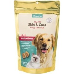 NaturVet Aller 911 Skin & Coat Allergy Aid Dog & Cat Soft Chews, 90 count found on Bargain Bro India from Chewy.com for $14.99