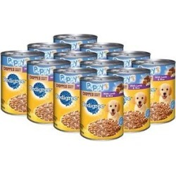 Pedigree Puppy Chopped Ground Dinner With Lamb & Rice Canned Dog Food, 13.2-oz, case of 12 found on Bargain Bro India from Chewy.com for $16.24