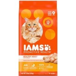 Iams ProActive Health Healthy Adult Original with Chicken Dry Cat Food, 3.5-lb bag found on Bargain Bro India from Chewy.com for $7.74