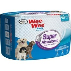 """Wee-Wee Pads for Adult Dogs, 24"" x 24"", 40 count"""