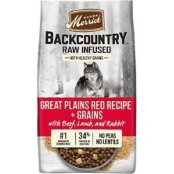 Merrick Backcountry Raw Infused Dry Dog Food Great Plains Red Recipe With Healthy Grains, 20-lb bag found on Bargain Bro from Chewy.com for USD $53.19