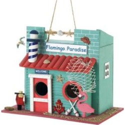 Zingz & Thingz Flamingo Paradise Bird House found on Bargain Bro from Chewy.com for USD $26.59