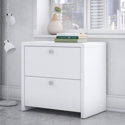 kathy Ireland® Office by Bush Furniture KI60102-03 - Echo Lateral File Cabinet in Pure White found on Bargain Bro India from totally furniture for $246.09
