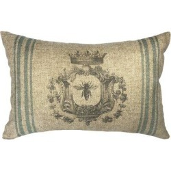 Ophelia & Co. Omie Bee Striped Linen Lumbar Pillow OPCO6421 found on Bargain Bro India from wayfair.com for $42.99